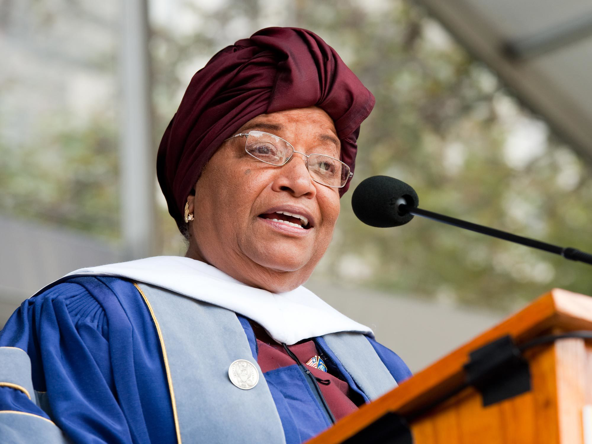 Ellen Johnson Sirleaf speaks at Commencement