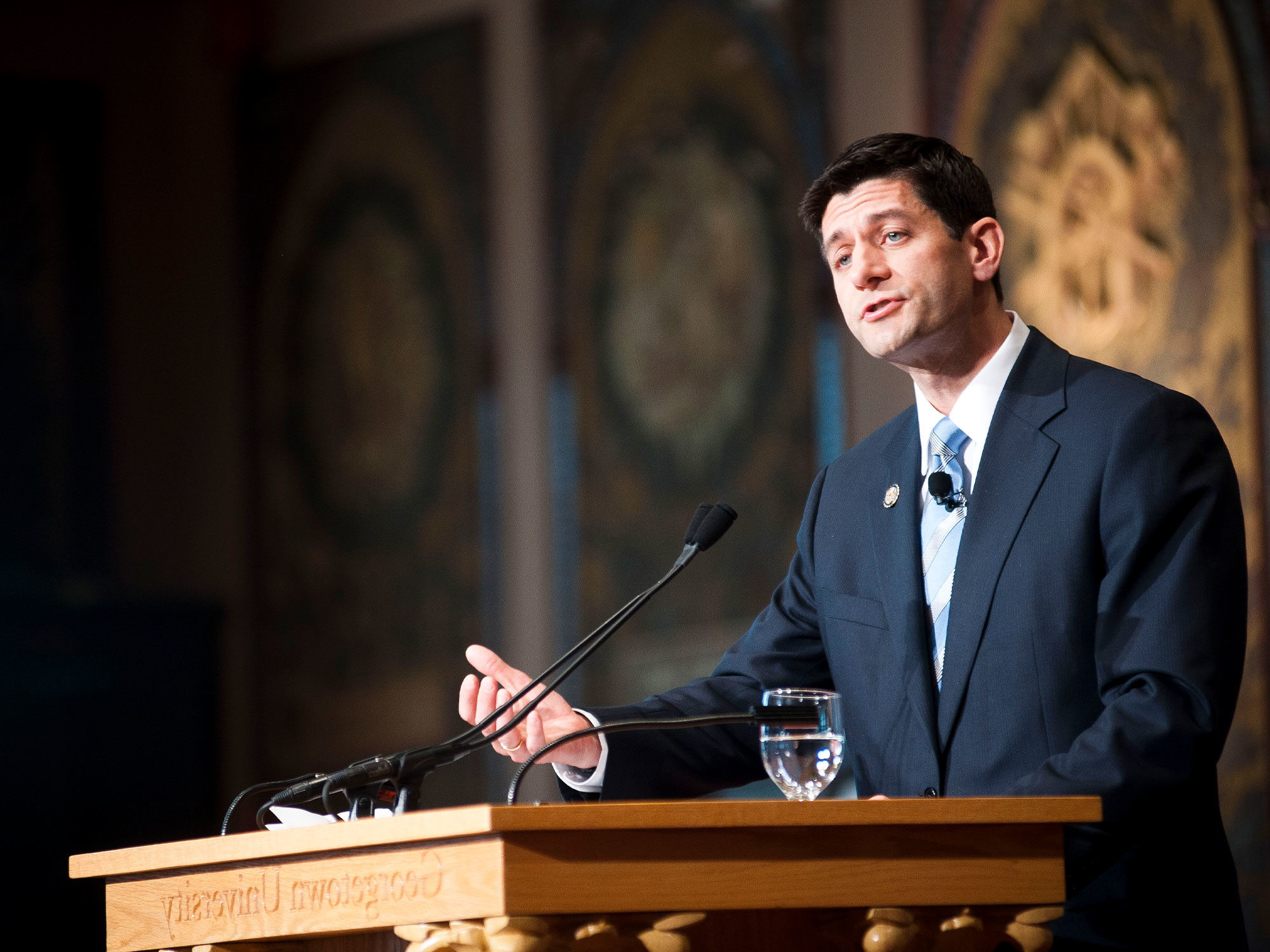 Paul Ryan speaks at Georgetown