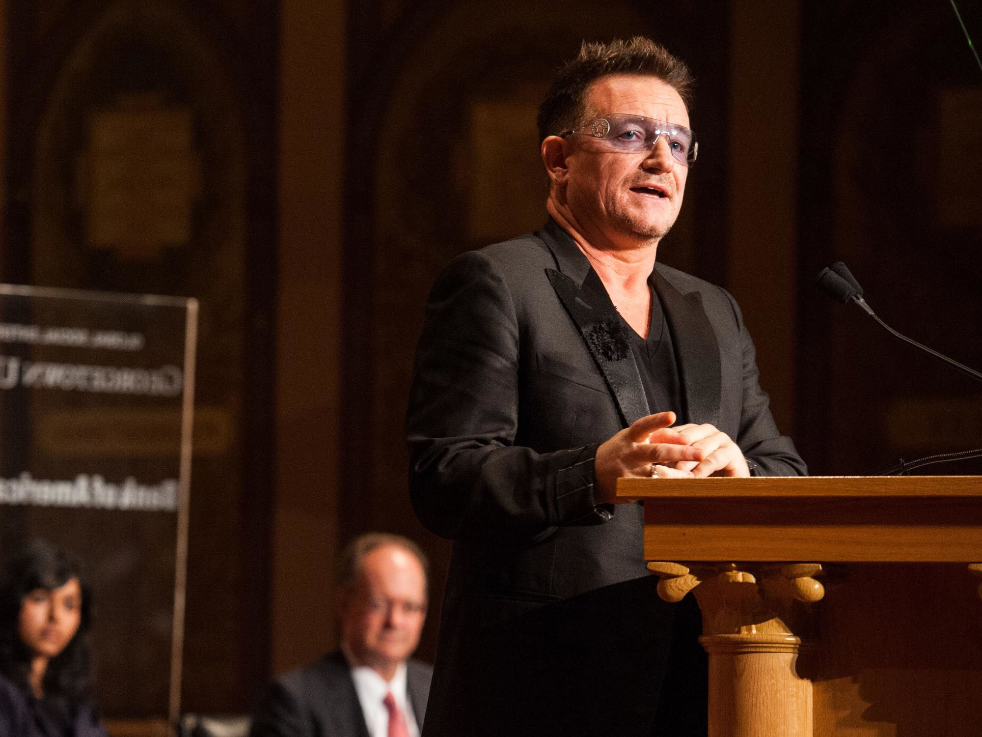 Bono speaks at Georgetown