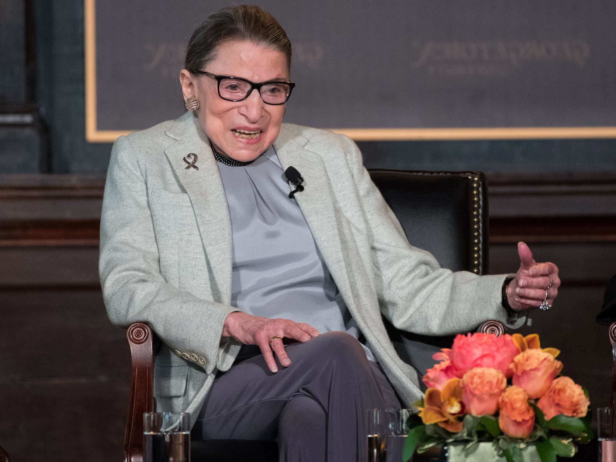 Ruth Bader Ginsberg speaks in Gaston Hall