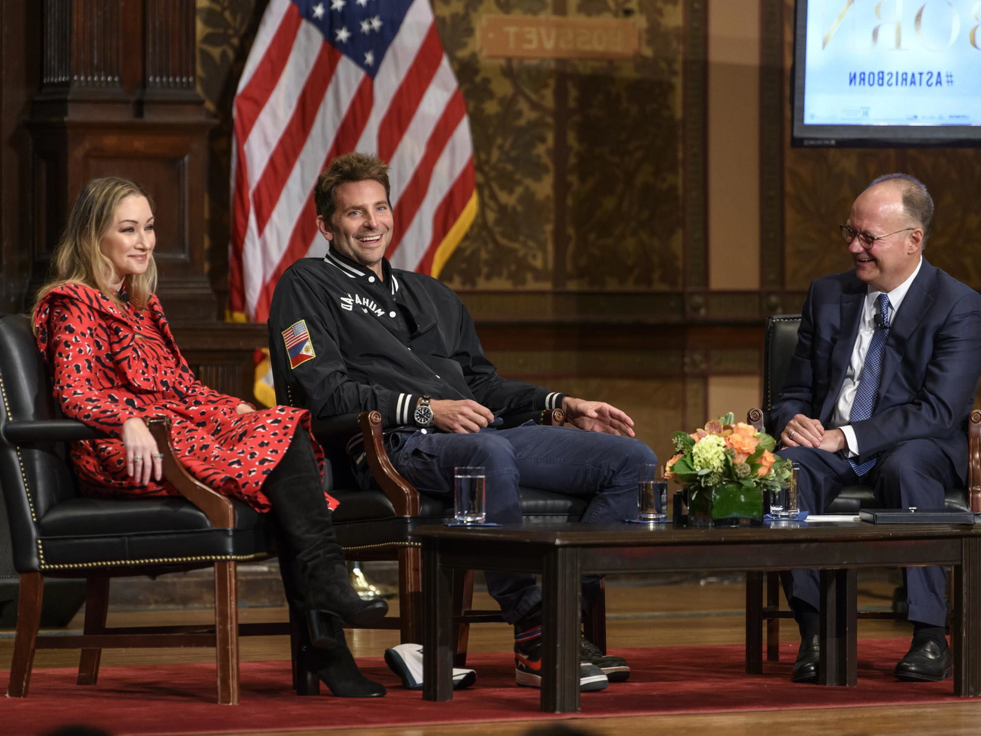 Bradley Cooper speaks in Gaston Hall