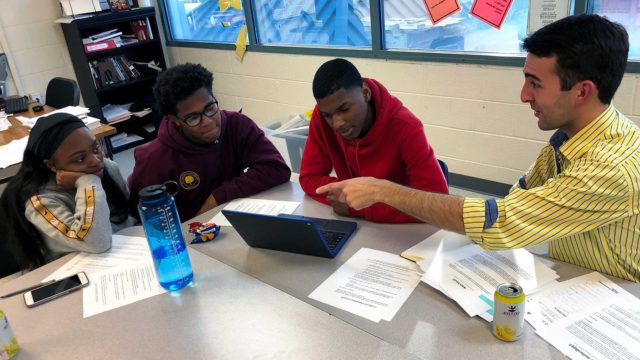 McCourt students and high school students work together